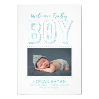 Invitación agradable del nacimiento del bebé el |