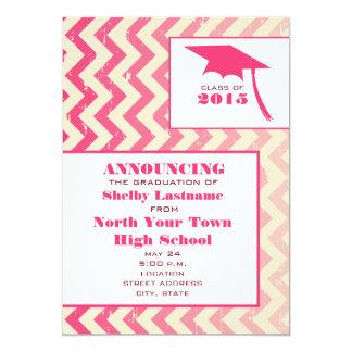 Invitación agrietada 2015 de la graduación del invitación 12,7 x 17,8 cm