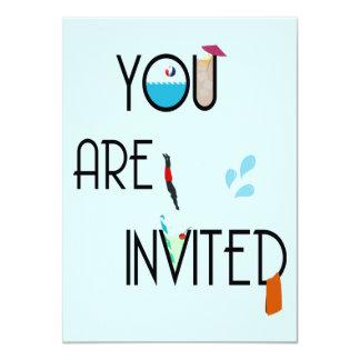 Invitación al aire libre de la fiesta en la