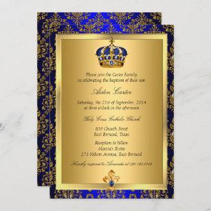Invitación al bautismo de la Corona Príncipe Rea
