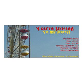 Invitación al circo invitación 10,1 x 23,5 cm