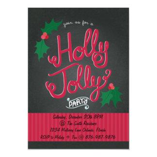 Invitación alegre de la fiesta de Navidad del