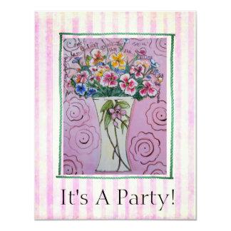 Invitación alegre de la tarjeta del fiesta de la