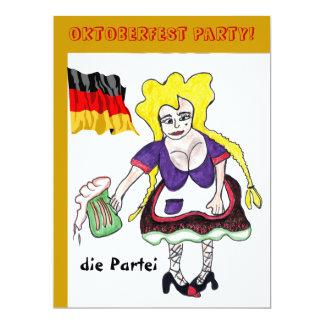 Invitación alemana del fiesta de la cerveza de invitación 16,5 x 22,2 cm