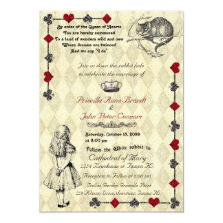 """Invitación """"Alicia del boda en el país de las"""