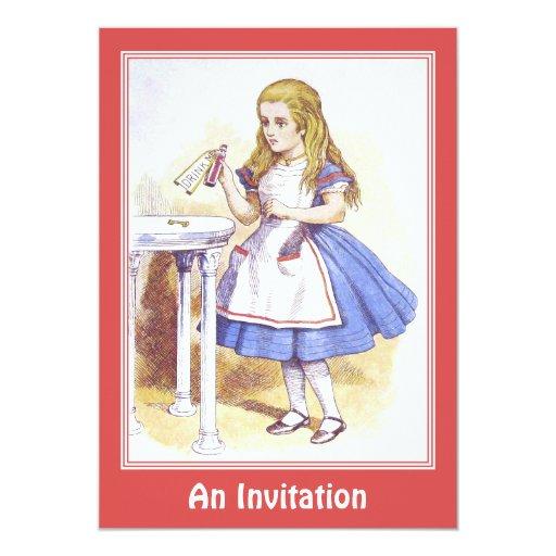 Invitación: Alicia en el país de las maravillas -