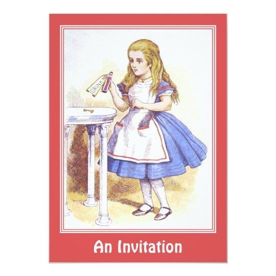 Invitación: Alicia en el país de las maravillas - Invitación 12,7 X 17,8 Cm