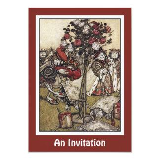 Invitación: Alicia y país de las maravillas - Invitación 12,7 X 17,8 Cm