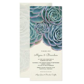 Invitación alta del boda de la frontera suculenta