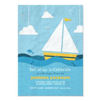 Invitación amarilla #2 del velero