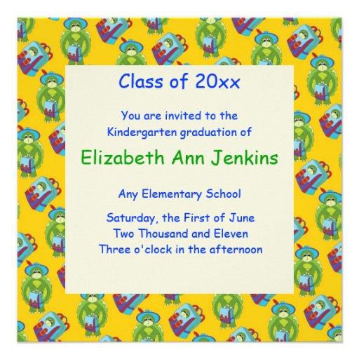 Announcement Graduation Invitation