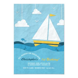 Invitación amarilla del velero
