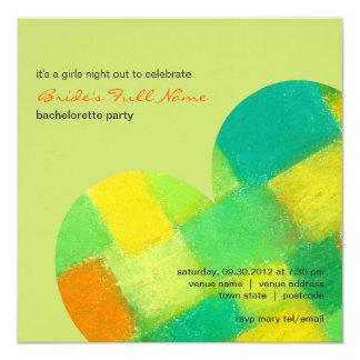 Invitación amarilla oscura del fiesta de