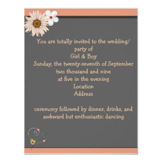Invitación amelocotonada