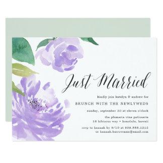 Invitación Amethyst del brunch del boda del poste
