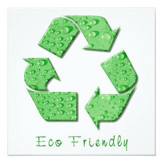 Invitación amistosa de Eco Invitación 13,3 Cm X 13,3cm
