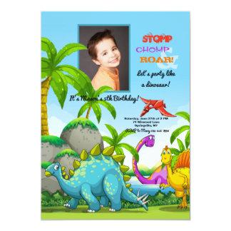 Invitación amistosa de la foto de los dinosaurios