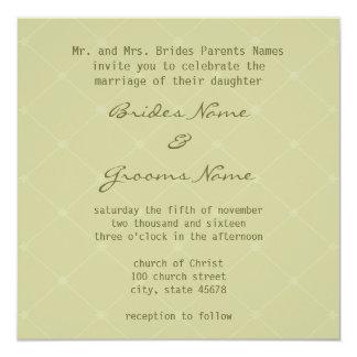 Invitación amistosa del boda de la tierra elegante