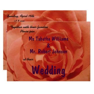 Invitación anaranjada clara linda del boda de la