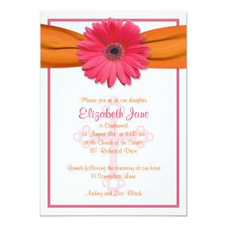 Invitación anaranjada de la confirmación de la