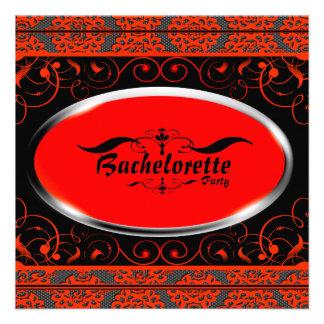 Invitación anaranjada del fiesta de Bachelorette d