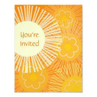 Invitación anaranjada retra