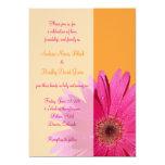 Invitación anaranjada y rosada del boda de la