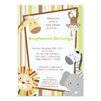 Invitación animal de la fiesta de bienvenida al
