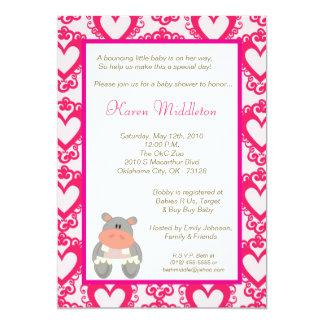 invitación animal de la fiesta de bienvenida al invitación 12,7 x 17,8 cm
