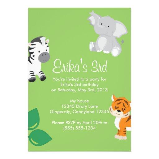 Invitación animal del safari del bebé