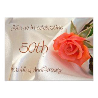 invitación anniverary del fiesta del 50.o boda invitación 12,7 x 17,8 cm