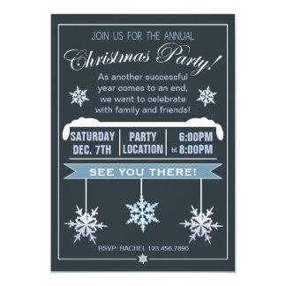 Invitación anual de la fiesta de Navidad del copo