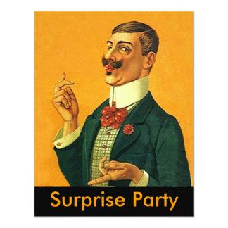 Invitación apuesta aguda del fiesta de sorpresa