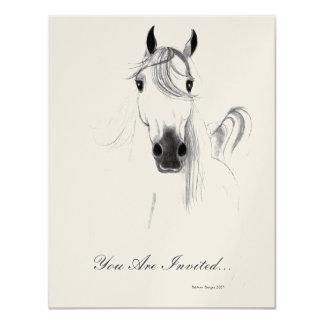 Invitación árabe clásica del caballo invitación 10,8 x 13,9 cm