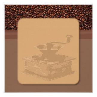 Invitación asada del café