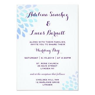 Invitación asequible, elegante del boda del