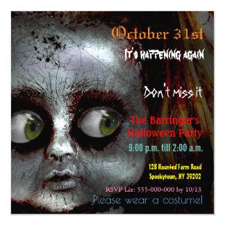 Invitación asustadiza del lustre de Halloween de