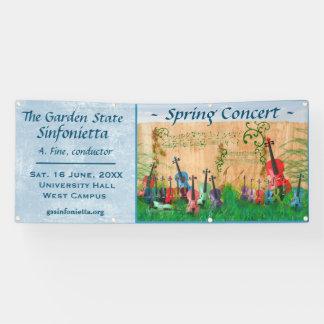 Invitación atada del concierto del jardín del lona