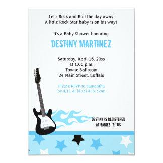 Invitación (azul) de la fiesta de bienvenida al