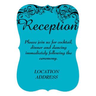 Invitación azul de la recepción