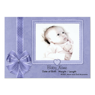 Invitación azul del bebé del pedazo invitación 12,7 x 17,8 cm