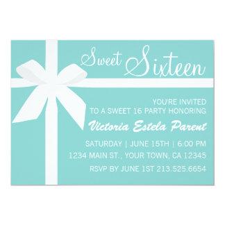 Invitación azul del dulce 16