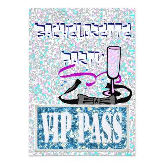 Invitación azul del fiesta de Bachelorette vip