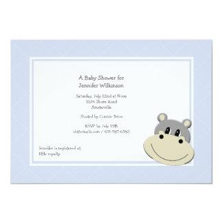 Invitación azul del hipopótamo