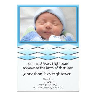 Invitación azul del nacimiento de Little Boy