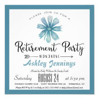 Invitación azul elegante del fiesta de retiro