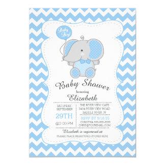 Invitación azul linda de la fiesta de bienvenida invitación 12,7 x 17,8 cm