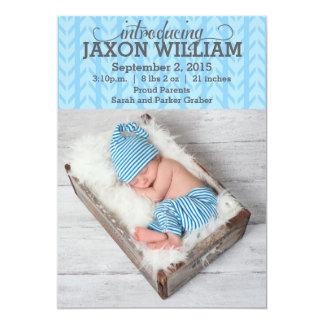 Invitación azul moderna del bebé del modelo