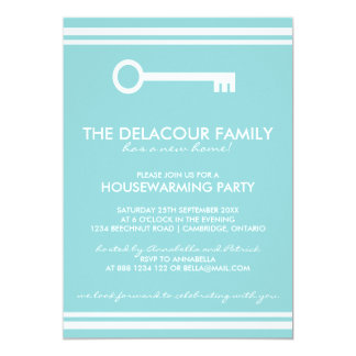 Invitación azul moderna del fiesta del estreno de