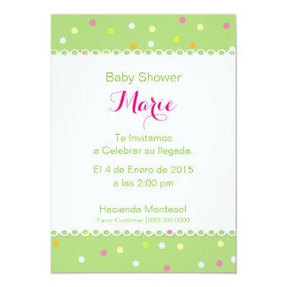 Invitación Baby Shower - Fondo Verde